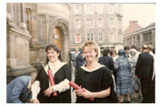 Graduating from Edinburgh University
